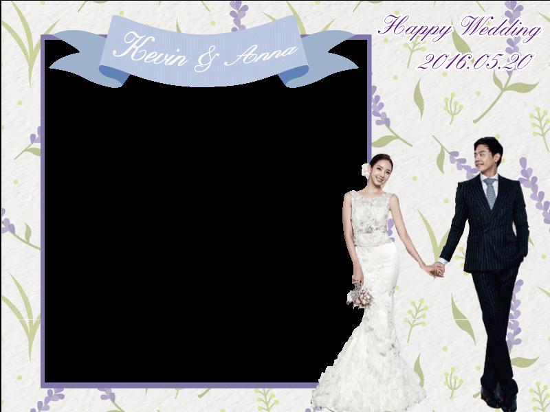 薰衣草 主題婚禮 拍照框