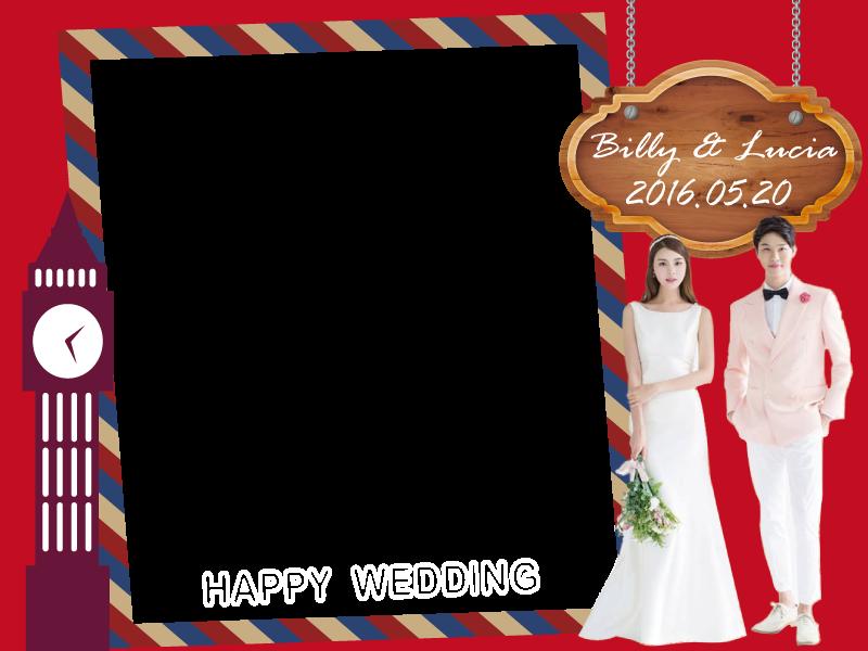 主題婚禮 英倫風 拍照框 拍照道具