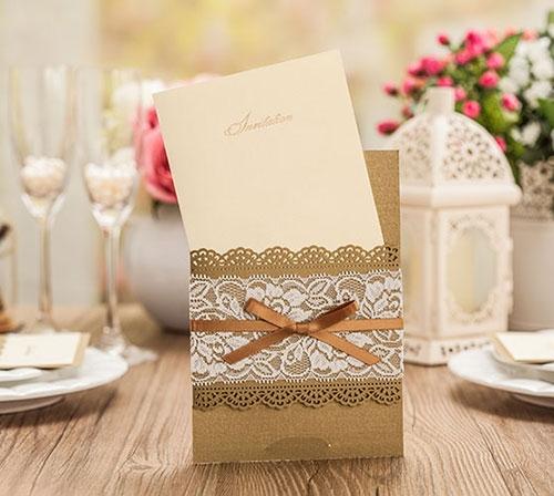 金婚 銀婚 喜帖設計 喜帖 推薦 創意喜帖 金蕾絲緞帶婚卡